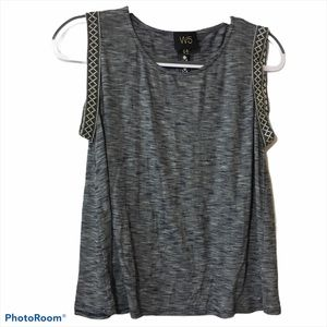 Anthropologie W5 Americana Tape Tank Top Size Med